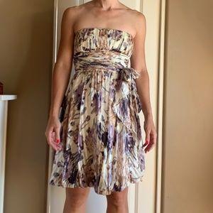 Purple Strapless BCGB Silk Dress